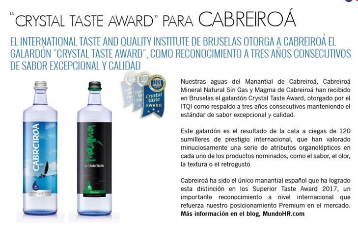 premi Acqua Cabreiroa